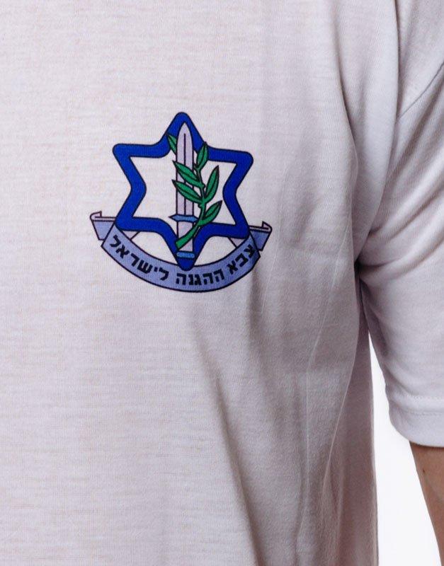 idf t shirt for combat units front close up
