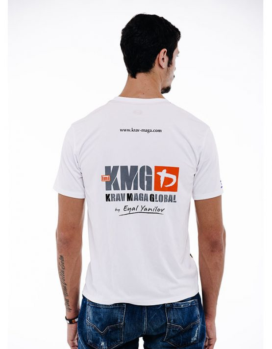 KMG Dri Fit Training Shirt - White & Black Back