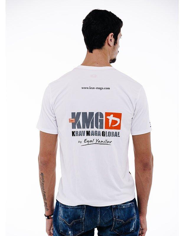KMG Dri Fit Training Shirt - White & Black Back