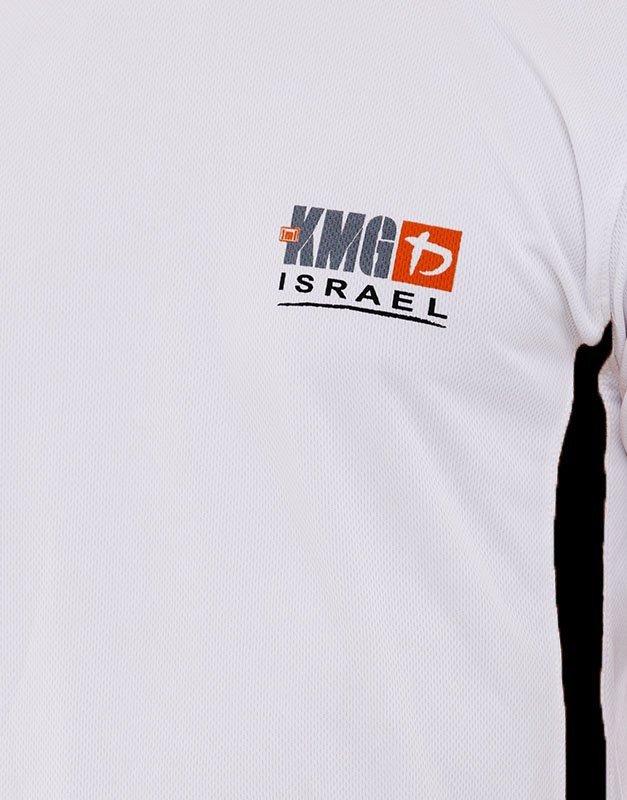KMG Dri Fit Training Shirt - White & Black Zoom