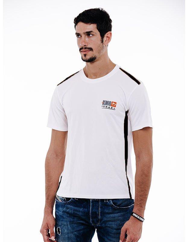 KMG Dri Fit Training Shirt - White & Black - Side