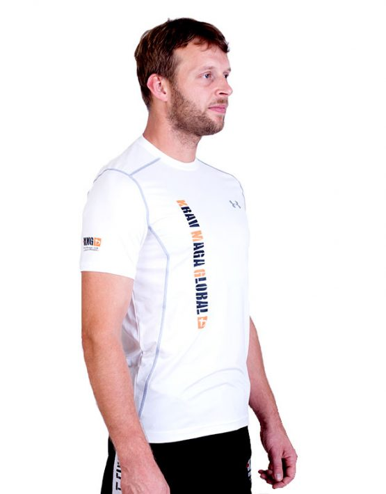 UA Dri-Fit Training Shirt for Men New Design - White (Side)