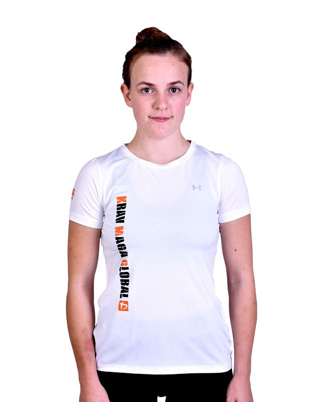 White New Design Under Armour Dri Fit Shirt For Women Kmg Shop Women's shirts not only offered the best coverage of their upper body but also made them stay comfortable. new design under armour dri fit training shirt for women white