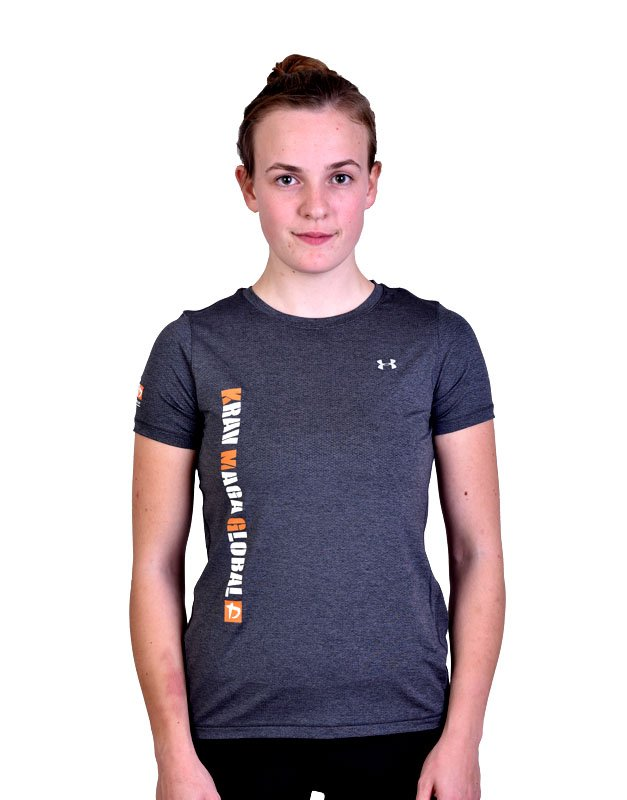 Grey New Design Under Armour Dri Fit Shirt For Women Kmg