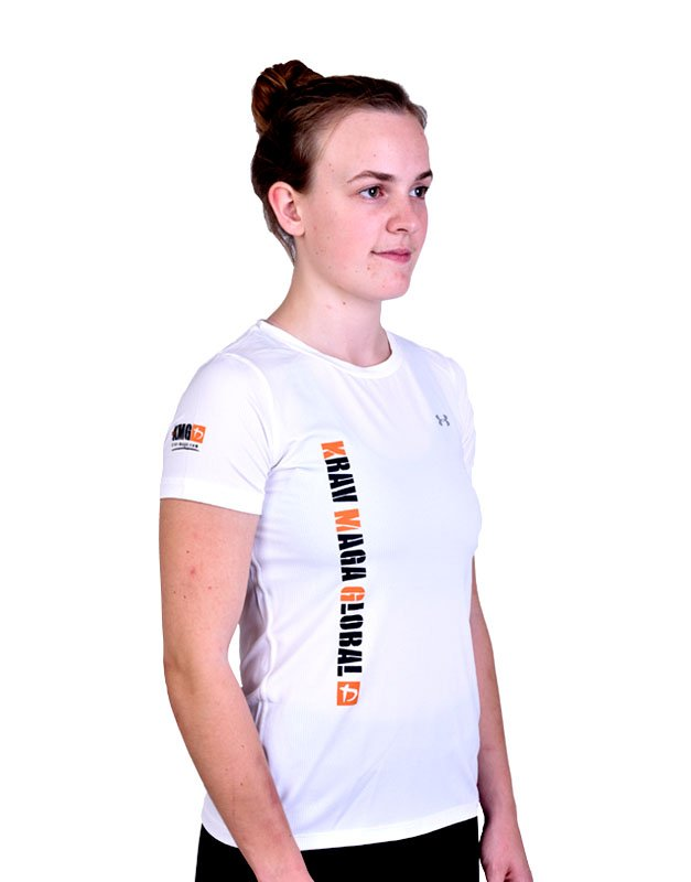 UA Dri-Fit Training Shirt for Women New Design - White (Side)